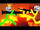 УГАРНАЯ БИТВА МАЛЕНЬКИХ ЧЕЛОВЕЧКОВ-СТИКМЕНОВ С 300 ХП В STICK FIGHT THE GAME!