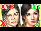 DOS & DONTS: How To Draw a Face with Coloured Pencils | Realistic Drawing Tutorial Step by Step