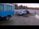 Пьяные за рулем на природе Уаз 3303 по бездорожью вытаскиваем из говна хендай