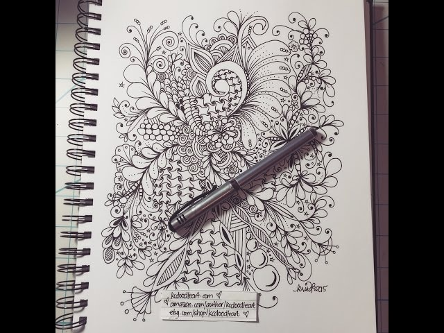Zentangle zendoodling patterns and swirls