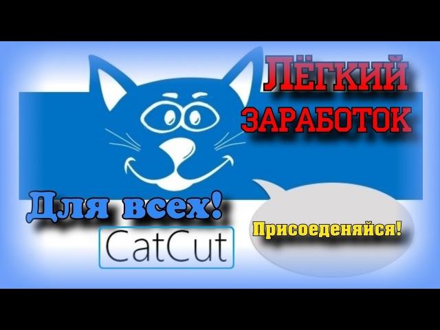 Простой заработок в интернете на своих ссылках! Без вложений! CatCut