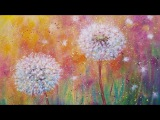 Dandelion Wildflowers LIVE Beginner Acrylic Painting Tutorial