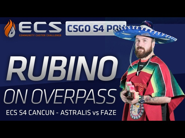 Rubino vs FaZe on Overpass ECS POV
