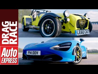 McLaren 720S vs Caterham 620R drag race - supercar takes on pocket rocket
