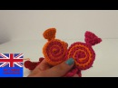 How to crochet a candy wrapper - easy step by step tutorial