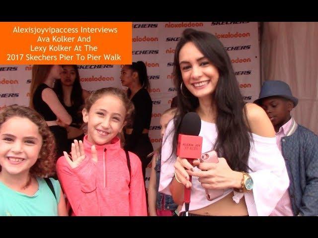 Интервью Лекси и Авы на ковровой дорожке Nickelodeon's Skechers' 9th Annual Pier To Pier walk 29/10/17
