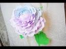 Большая роза из гофро бумаги 2 часть