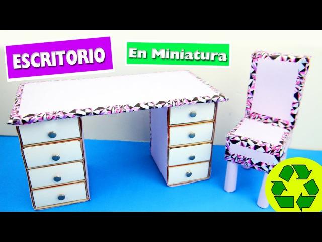 👝 DIY | Escritorio con cajones - manualidades para muñecas - manualidadesconninos