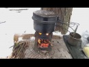 ⚠️[ТЕСТ] Титановая Печка-щепочница | Испытание | Бонус обзор • Titanium Stove Testing in the Wood