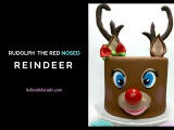How to make a Rudolph the red nosed reindeer cake - Christmas cake idea