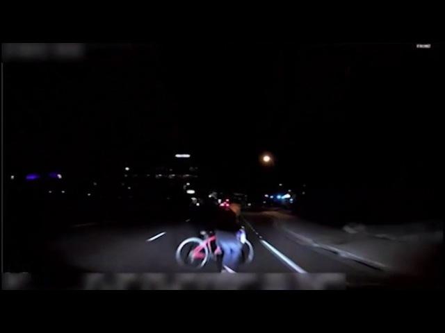 Видеокадры первого смертельного ДТП с участием беспилотного автомобиля