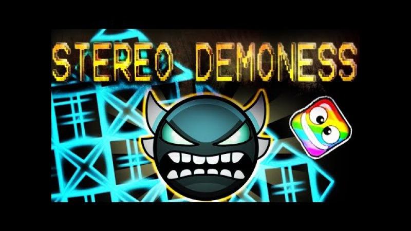 STEREO DEMONESS 100% Complete (INSANE DEMON) - by MaJackO (On Stream) - Geometry Dash [2.1]