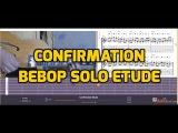 Confirmation ( Charlie Parker) bebop etude for guitar