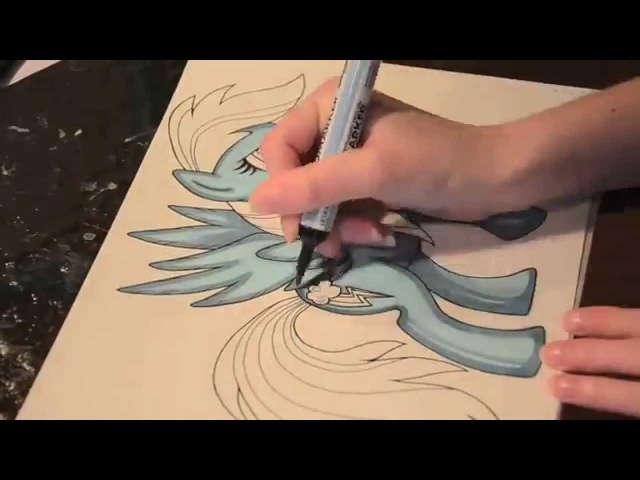 Speed painting MLP 6 of 6 - Rainbow Dash