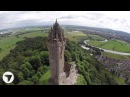 Wallace Monument, Stirling, Scotland Stunning Aerial View