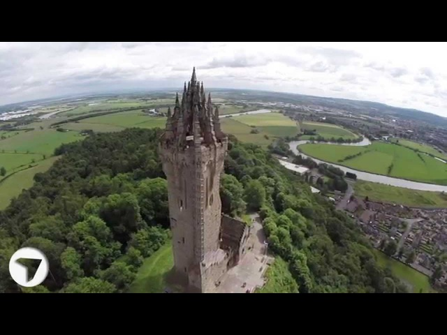 Wallace Monument Stirling Scotland Stunning Aerial View