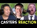 All CASTERS REACTIONS Fnatic vs Secret COMEBACK