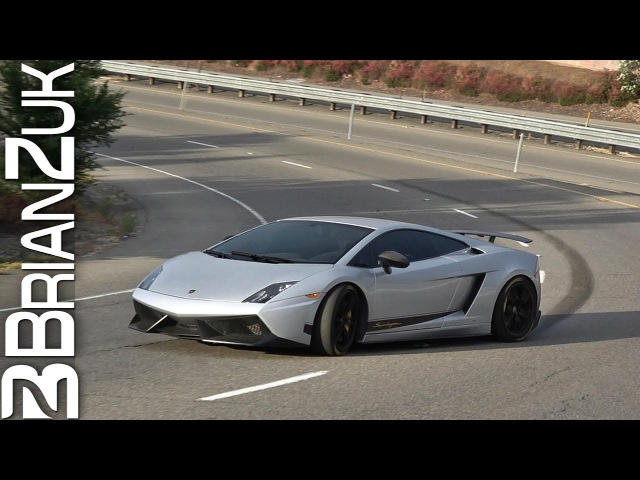 Lamborghini Gallardo LP570-4 Superleggera Freeway Onramp Drift