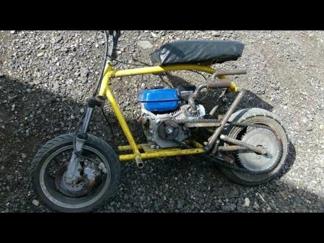 Мини байк с двигателем от мотоблока 80 км/ч
