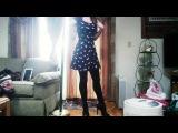 Crossdressing At Home In Dress, Stockings & Heels