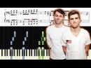 The Chainsmokers - Everybody Hates Me - Piano Tutorial SHEETS
