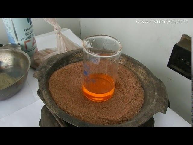 Определение золота в полевых условиях бромным реагентом