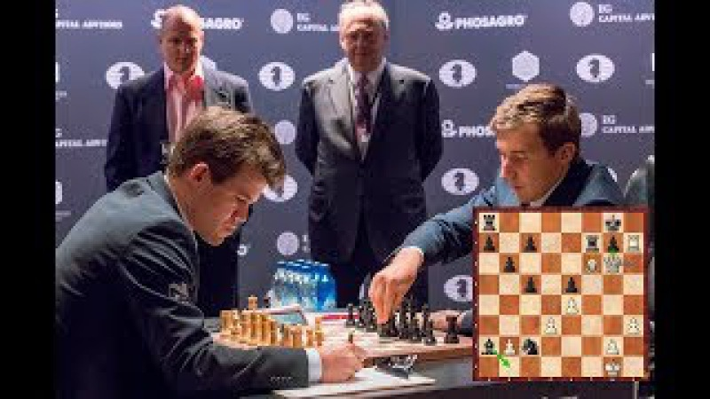 Shocking! Karjakin Gives His Queen To Carlsen In a Fantastic Game Round 16 King Salman Blitz Rd15