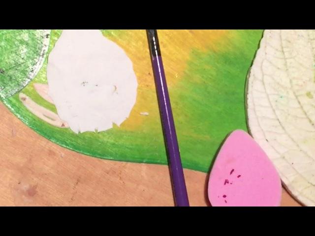 Процесс работы лепки Розы из холодного фарфора