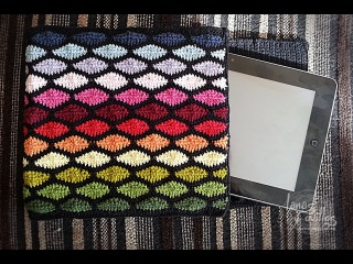Tutorial Funda Tablet Crochet o Ganchillo Punto Ondas Wave Stitch