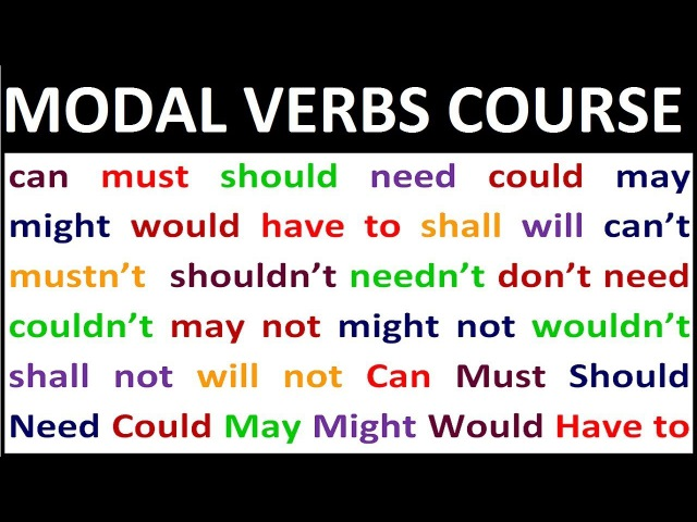 MODAL VERBS COURSE Learn English grammar lessons for beginners All modal verbs you need
