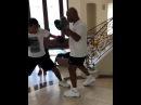 Майк Тайсон тренирует своего сына Mike Tyson trains his son