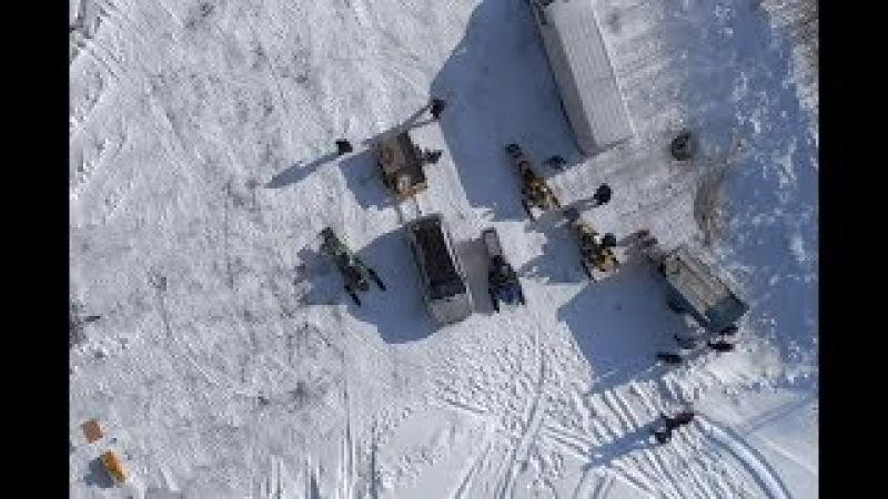 Snowmobiles racing LYSVA 10-03-18 DJI MAVIC AIR