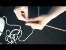 Узоры вязания спицами ЛОЖНАЯ КОСИЧКА простые узоры для начинающих crochet kniting master class