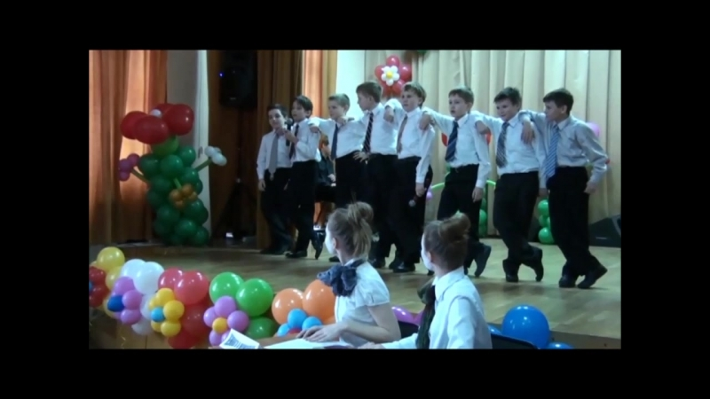 Когда-то давным-давно нынешние 11-классники поздравляли с праздником 8 Марта...