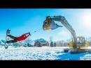 Трактор сноуборд зима экскаватор