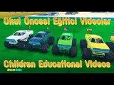Canavarlar Kamyonlar Sayılar Renkler Super Kahramanlar Çocuklar için Eğlenceli Eğitici Çizgi Fi
