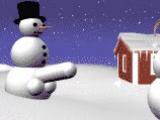 снеговик и снежная баба