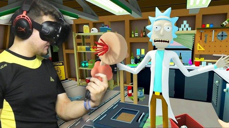 Rick and Morty: VR 1 | Развлекаюсь с плюмбусом | HTC VIVE | Упоротые игры