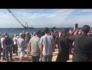 Погружение самолета С-130 Геркулес . Иордания, Акаба 16.11.2017 часть 1