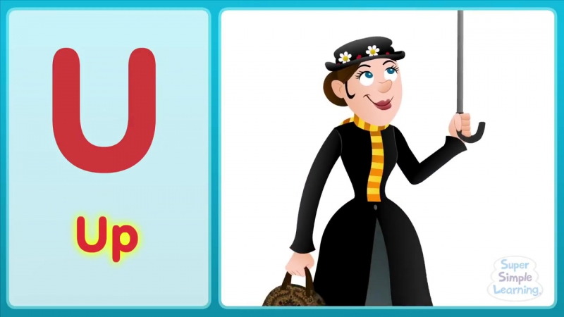 The U Song (Uppercase) - Alphabet Song - Super Simple ABCs