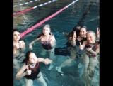 swimming with Liza :)