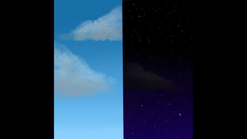как рисовать небо, простой способ в САИ