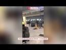 В аэропорту Домодедово с потолка течет вода из-за прорыва канализации