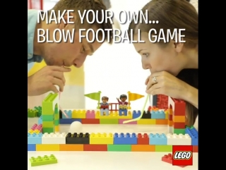 make your own blow football game