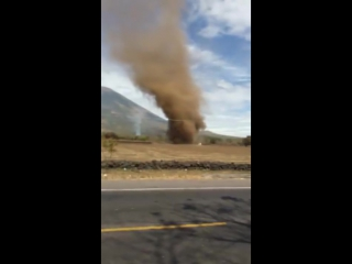 Big dust devil near volcán chaparrastique de san miguel, el salvador on jan 16!