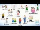 Слова на английском на тему СЕМЬЯ. Члены семьи на английском