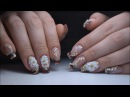 Наращивание ногтей гелем Форма балерина с аквариумным френчем ОНЛАЙН