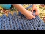 Плед крупной вязки из мериноса своими руками