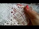 3 часть. Заключительная. Вязание крючком квадратного мотива для салфетки.