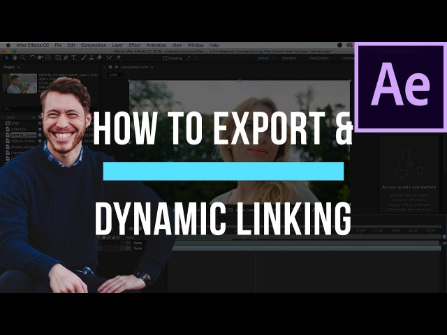 How To Export in After Effects and use Dynamic Link - After Effects Basics Course Video 8 (FINAL)
